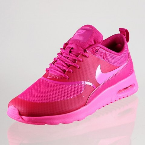 ae6a6fe0c3 Nike Air Max Thea Pink Pow Fireberry, Slightly Worn as I & - Depop