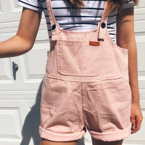 c45f3708ce08 Princess Polly Pink Sloan Denim Overalls Brand new with and - Depop