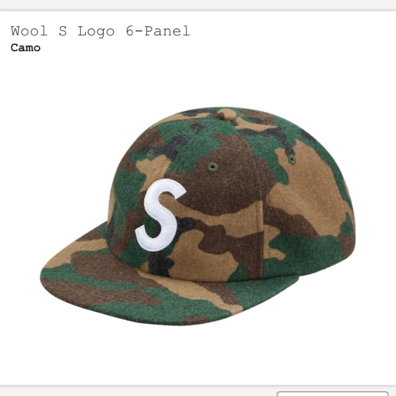 Brand New Sold Out Supreme S-Logo 6 panel hat in Camo one - Depop 6c0d9cc57ed
