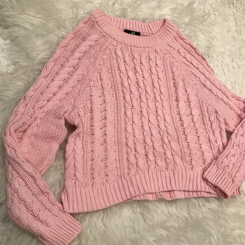 62dd401755a5 Light pink chunky knit sweater. In perfect condition! and - Depop