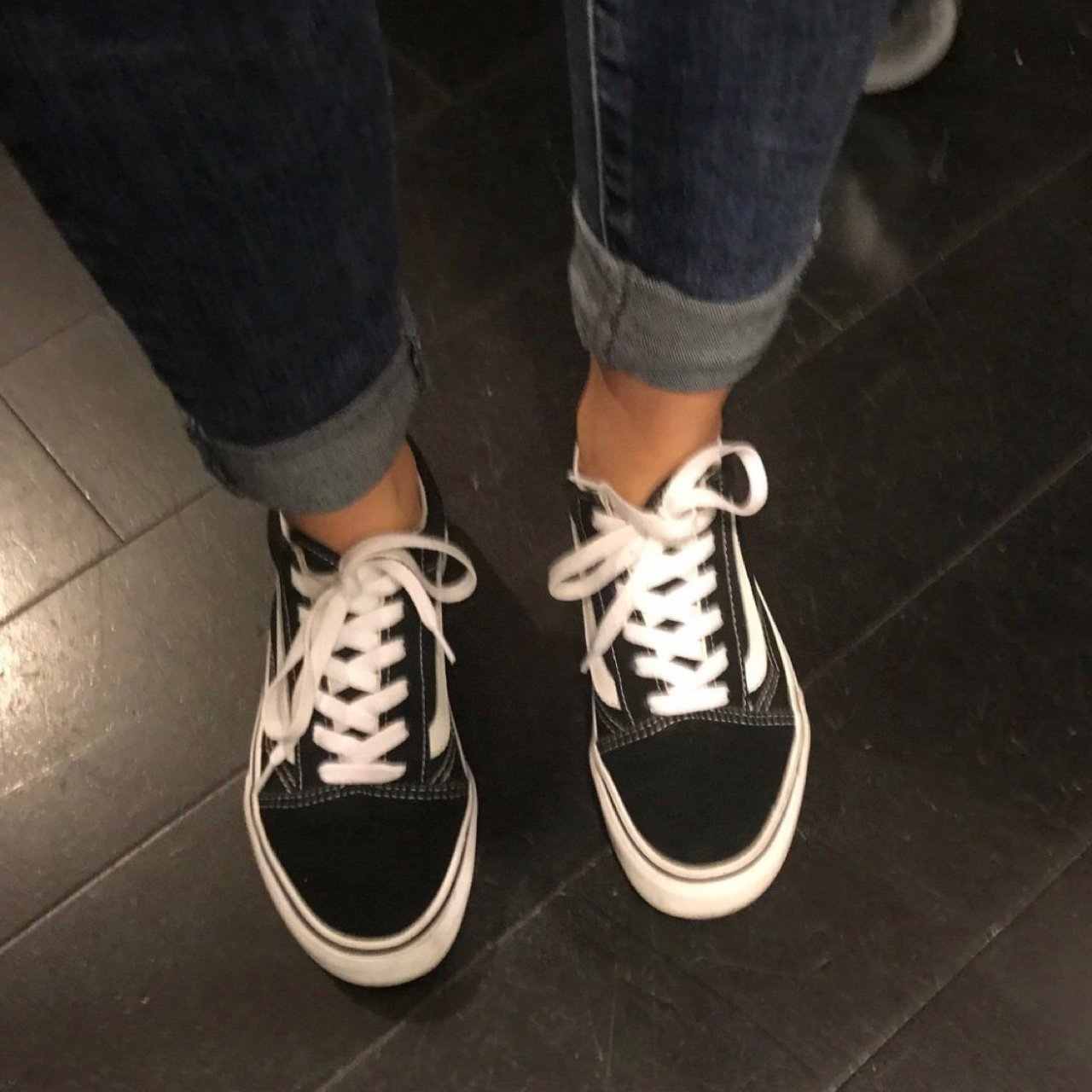 Gently Worn Vans Shoes   US YOUTH SIZE 3  US WOMEN S SIZE 5 - Depop a66d2e3a1