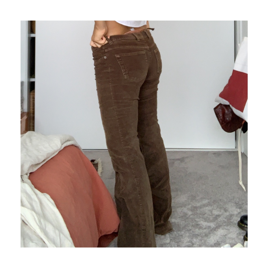 Sass And Bide Corduroy Flared Jeans It Says Size 8 Depop