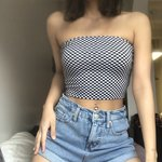 e1eaef6090 Checkered tube top Worn 2-3 times