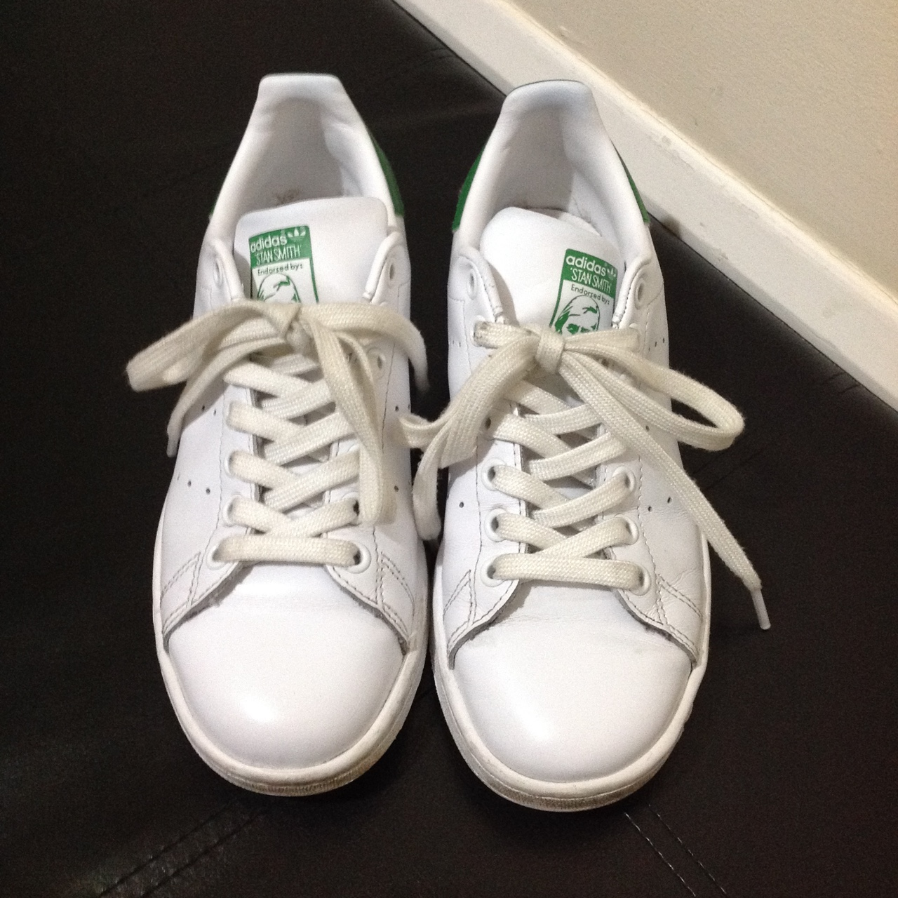 timeless design 65832 9b1b9 Ladies Adidas Stan Smith trainers Size UK 5. In... - Depop