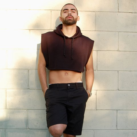 0e3075e2b33519 Men s Pro USA Hoodie Customized Crop Top Hoodie Vest Size  - Depop