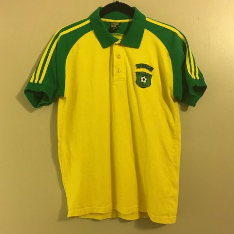 75755f478e8 90s Casual Gear Jamaica Football Club jersey. 100% cotton - Depop