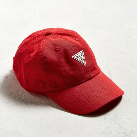 🍒 Red Guess Baseball Cap 🍒 This hat has the classic Guess - Depop b2dbf0ce6a0