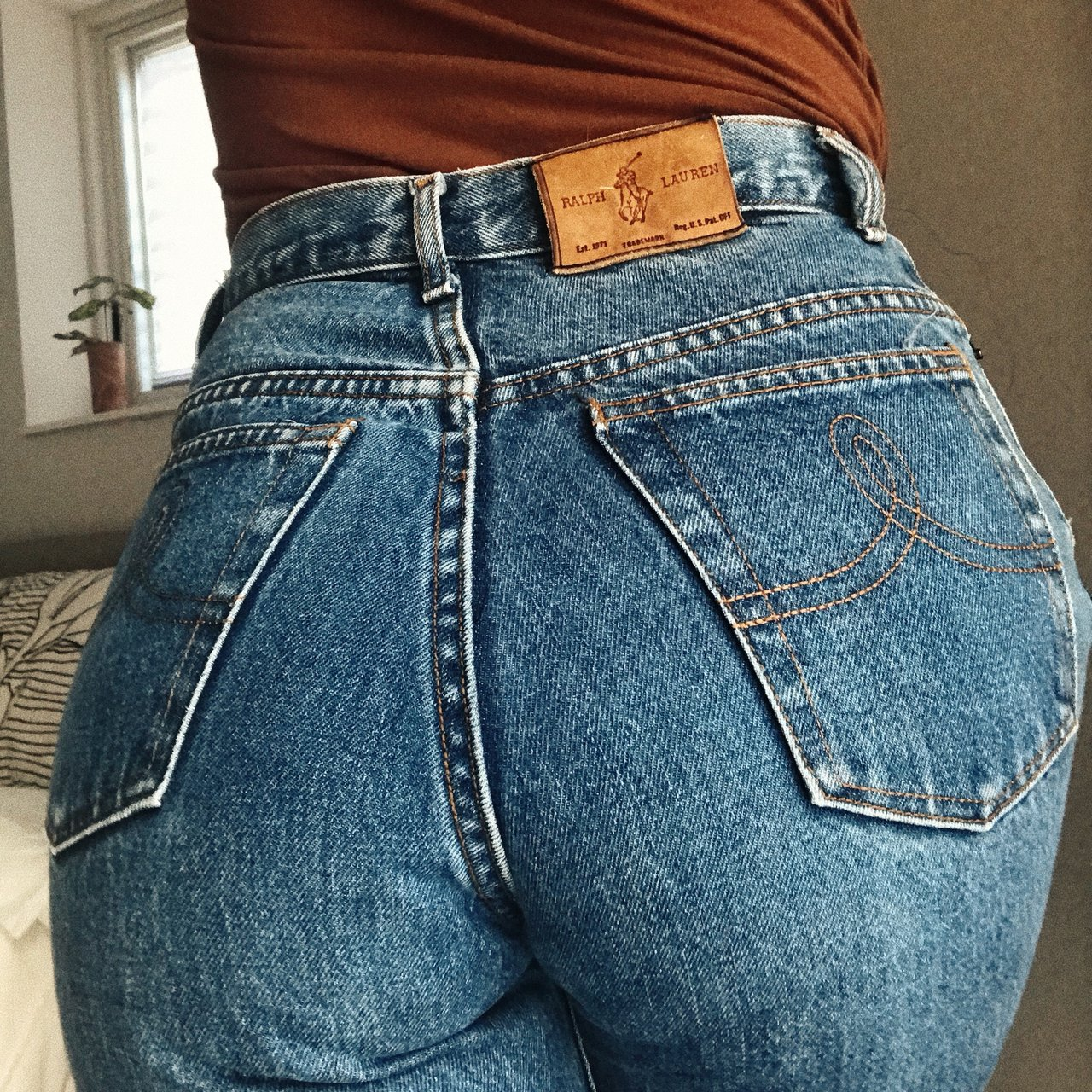 aa6215b60c454 @psychedelicthreads. in 20 hours. West Palm Beach, United States. Amazing  vintage Ralph Lauren high waisted jeans.