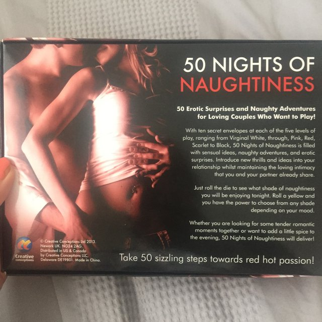 Fifty Nights Of Naughtiness Erotic Sex Game For Couples