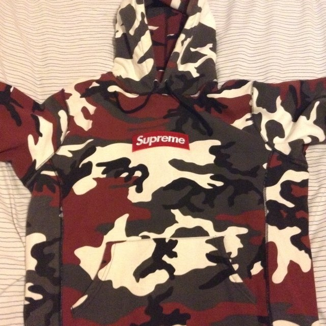 df16e558dbff Supreme Red Snow Camo Box Logo hoodie hoody