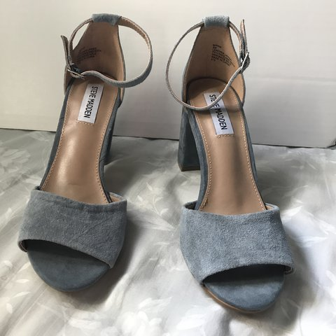 7ffbdbcfe941 Steve Madden Genuine Leather and Suede heels with ankle been - Depop