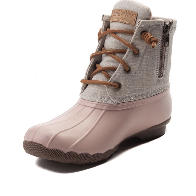 Pink Sperry Duck Boots in great