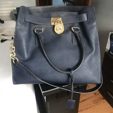 3234539a9a4365 @nikoleseiser. 9 months ago. Barkhamsted, United States. Navy blue large Michael  Kors Hamilton Bag ...
