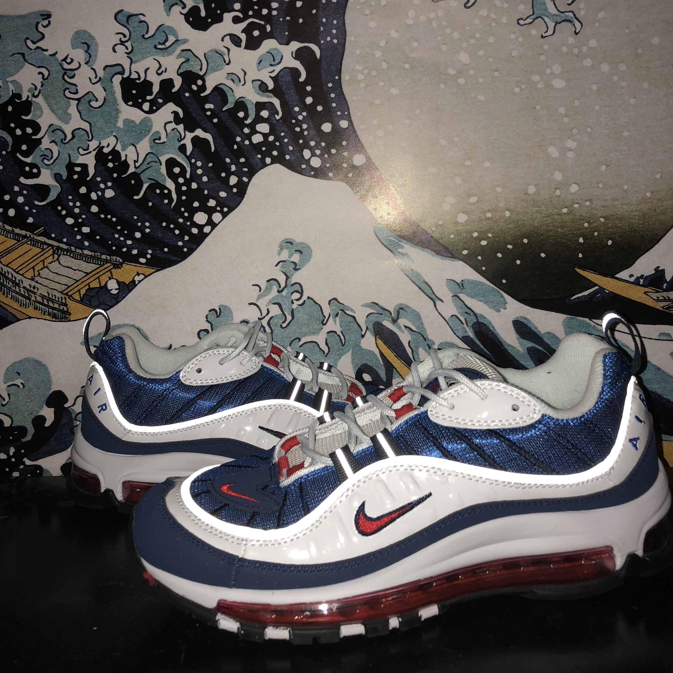"53ee0dbf57d Nike Air Max 98 ""Gundam"" 9.5/10 condition NO BOX... - Depop"