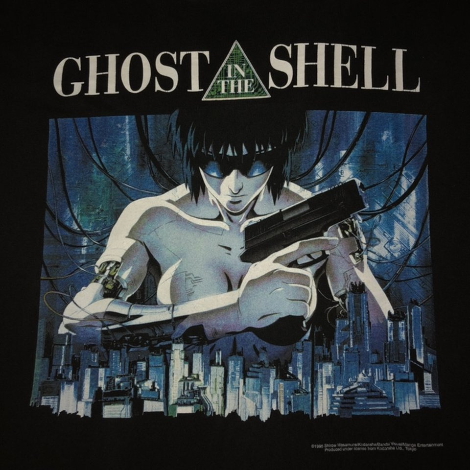 Vintage 1995 Ghost In The Shell Tee 8 5 10 Depop