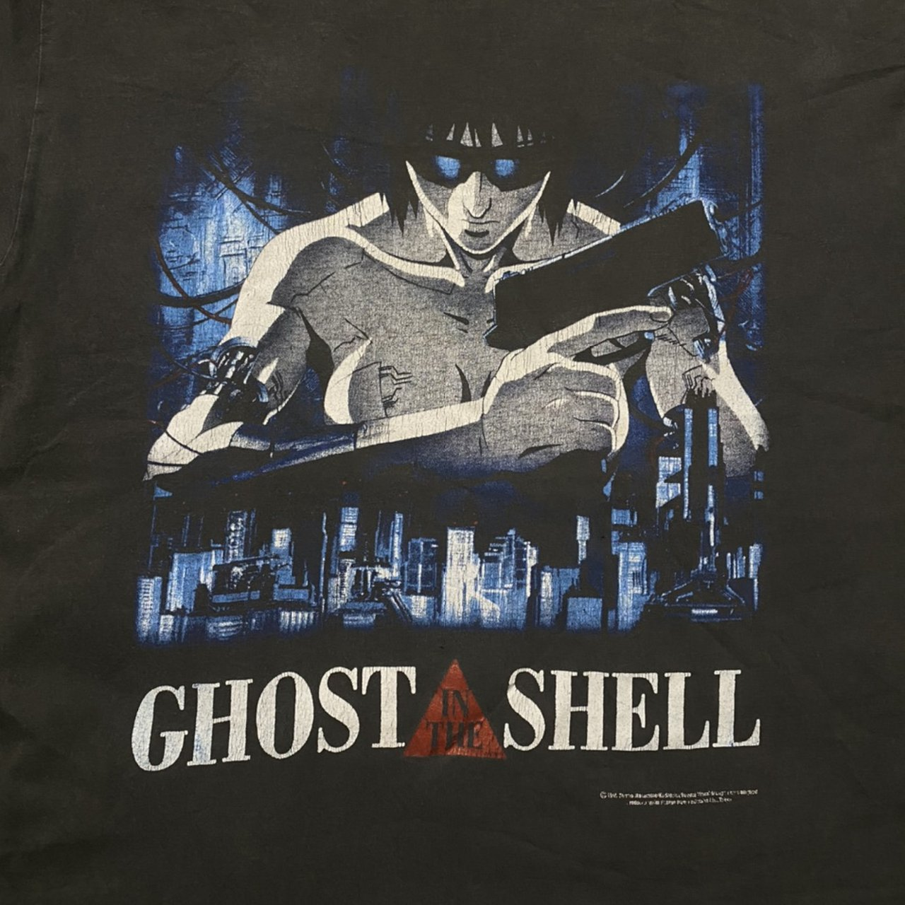 90s Ghost In The Shell Tee 7 5 10 Condition No Tag Depop