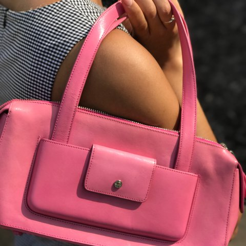 e76b84133cd 1/2 OFF. Vintage, authentic, pink Monsac handbag! Original - Depop
