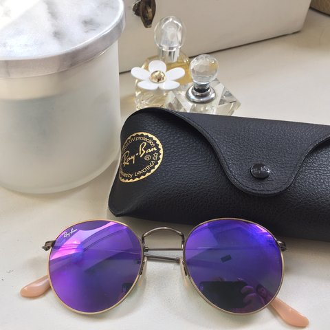 b5a8d48167 Authentic Ray Ban Round Metal Remix sunglasses with unique + - Depop
