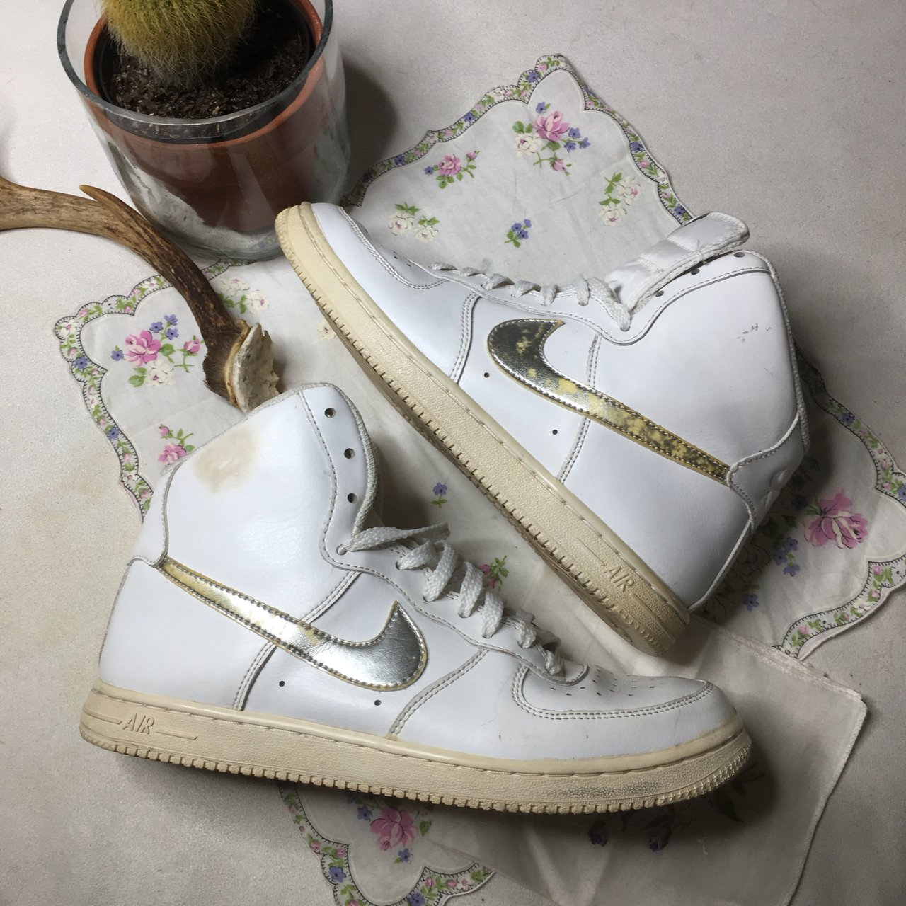 5755f69c1e48 Air force 1 size 5.5 good condition still a lot of wear left - Depop