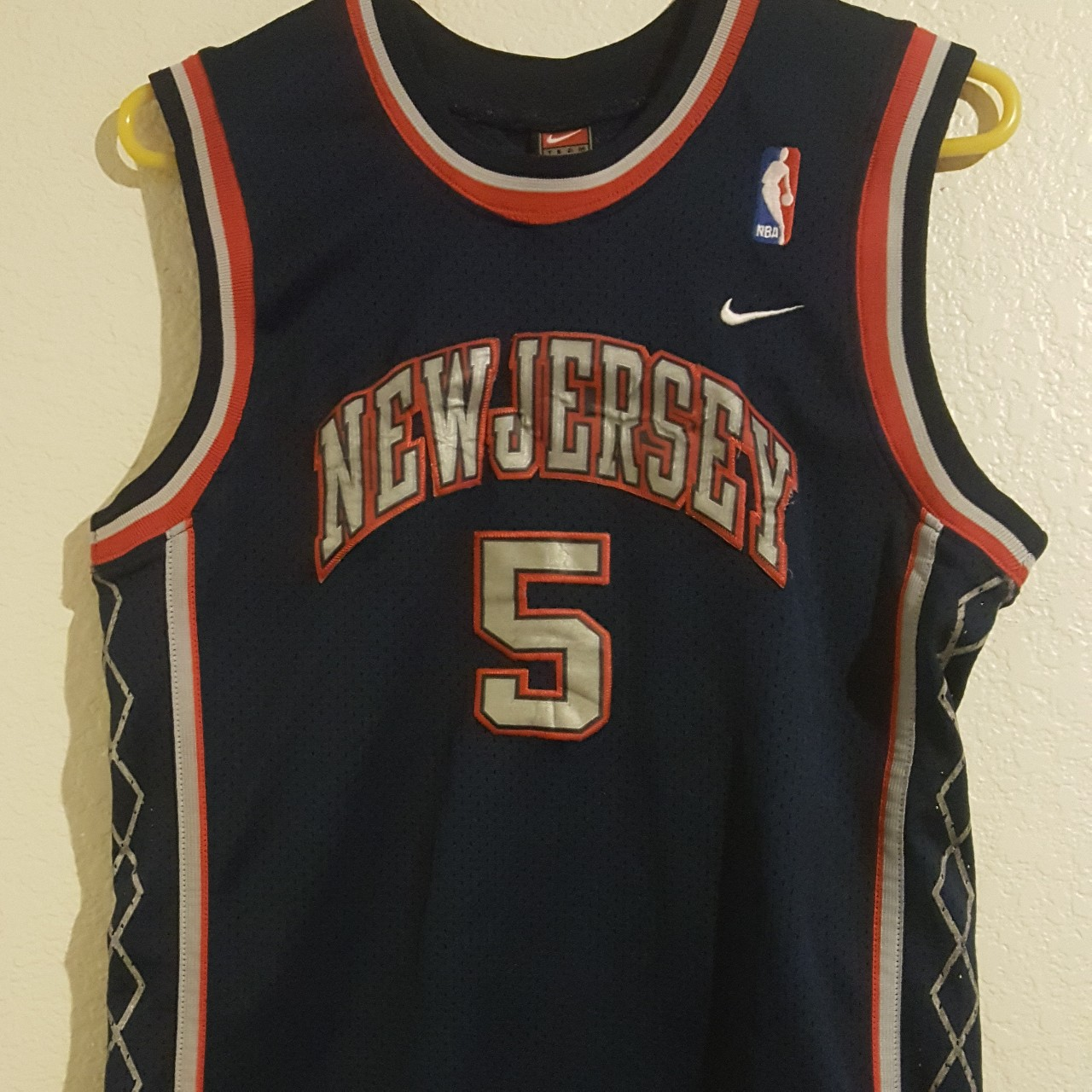 free shipping 8d4e4 1f2bd For Sale is a Vintage Nike New Jersey Nets Jason... - Depop
