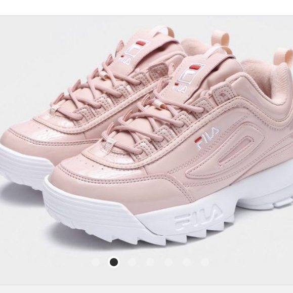 Shop - baby pink fila trainers - OFF 71