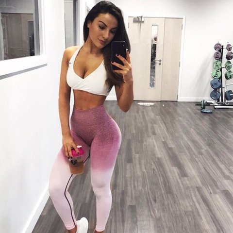 3322a21c134c7b @toricoltart. last year. Weymouth, United Kingdom. RESERVED! DO NOT BUY. Gymshark  ombré chalk pink/beet seamless ...