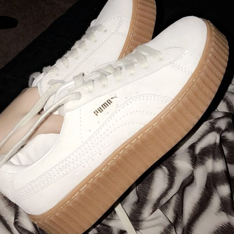 56ee4026838144 rihanna fenty puma creepers in off-white - size says 8.5
