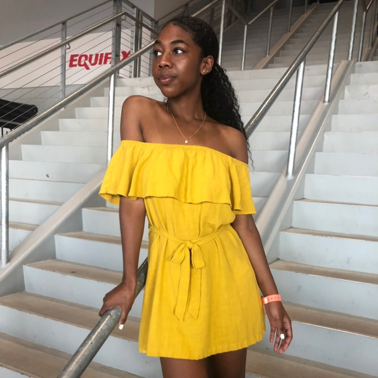 c01d47b32dce Off the shoulder Lemonade mini dress 🍋 Worn twice super   - Depop