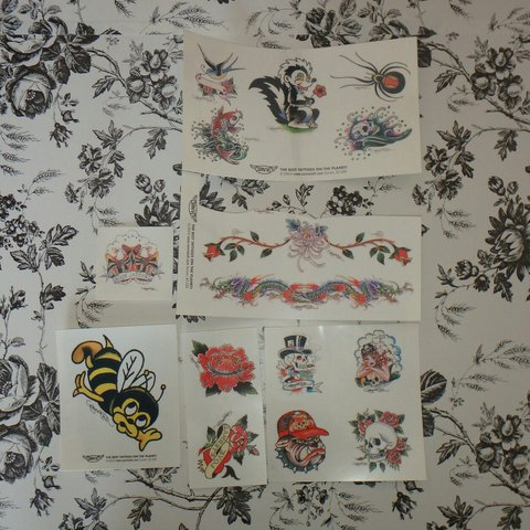 Ed Hardy temporary tattoos! FREE SHIPPING! $3 for all temp - Depop