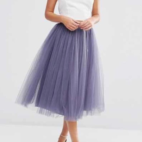 020996695b69 Little mistress high waisted tulle midi skirt, bought from a - Depop