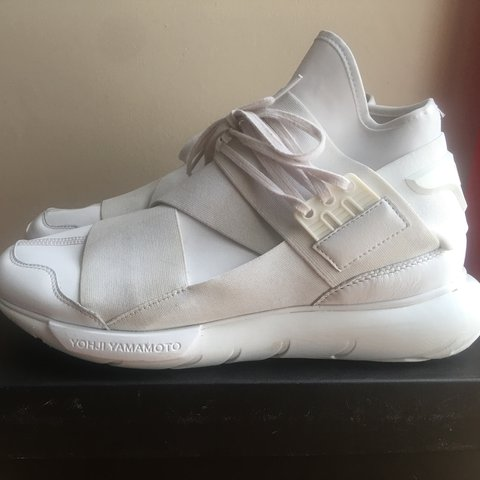 05d9da2232da2 Y-3 Qasa High Triple White - £260 RRP - U.K. size 10 - two - Depop