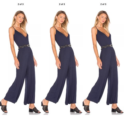 1fb7e85b14b THE FIFTH LABEL Animated People navy jumpsuit Cotton with a - Depop