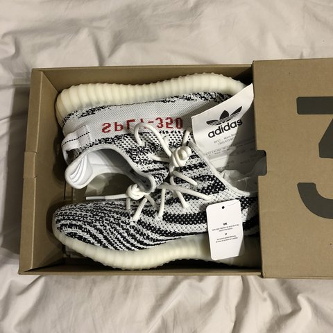 3ecaa968b3c Adidas Yeezy Boost 350 V2 Zebra - UK Size 9.5 Selling as of - Depop