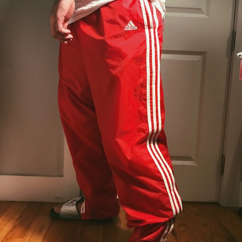 64a8d091d @maraperalta. 2 years ago. Kings County, United States. Vintage Adidas Red  Track Pants - style 88387 -Early 90s ...