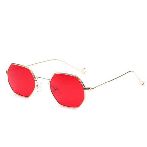 d2e9a91c469be 1 PAIR LEFT FOR 1st CLASS DELIVERY red hexagon sunglasses - Depop