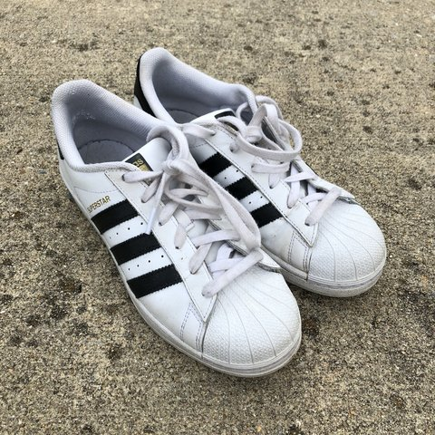4c8b0dc356c2 Super cute worn in adidas original superstar shell toe. I bc - Depop