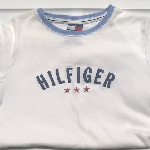 047a65d7 @thriftednlifted. 11 months ago. Roanoke Rapids, United States. Vintage Tommy  Hilfiger T-Shirt Women's size ...