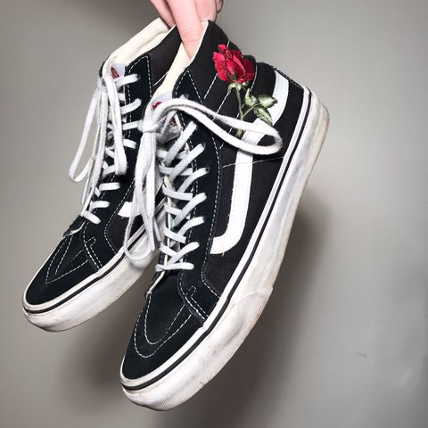 91cfeb8a9cb customized vans sk8-hi sneakers 💲🖤💲 purchased brand new