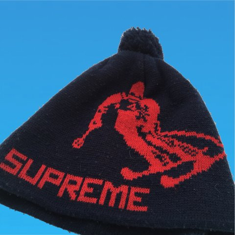 5c131cb0b77 Supreme Ski Beanie Hat One Size Rare Good Condition Message - Depop
