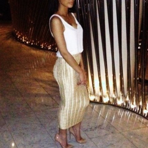 c0848bc9a80 Selling highly sought after hm gold ribbed midi maxi skirt! - Depop