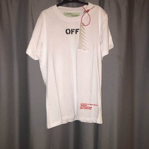 2eced67b @jeastley. last year. South Brent, United Kingdom. Off white t shirt Off  white tee ✅ Brand new with tags ...