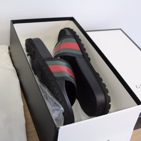 3734a490f 100% Genuine Men's Gucci Slides. Purchased from Selfridges - Depop