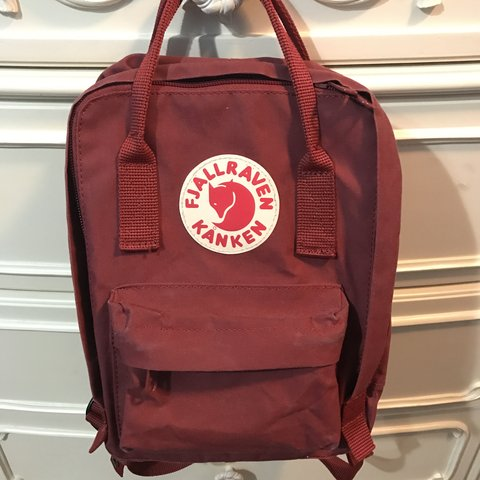cb84b627c9 ✨Fjallraven Kanken Mini backpack in Deep Red✨ - only been a - Depop