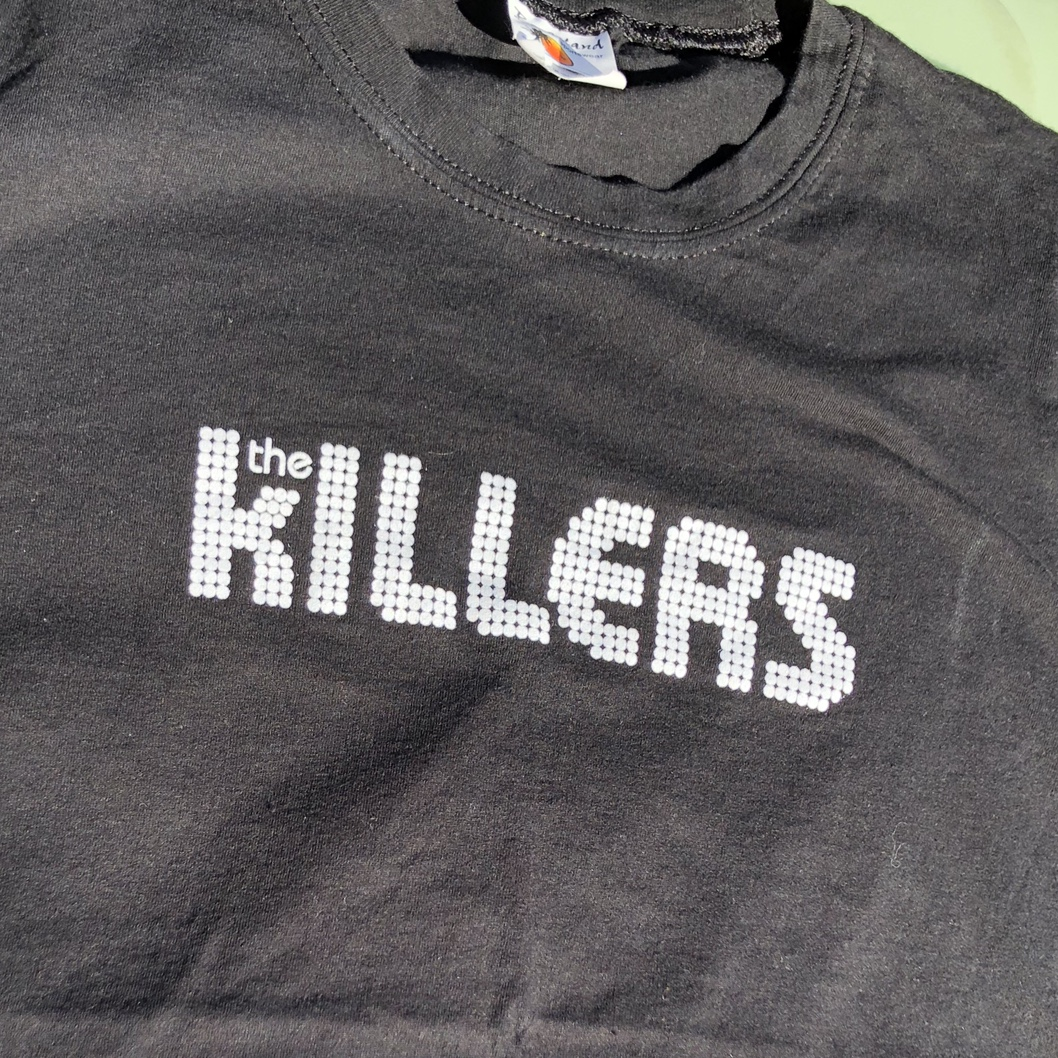 Black Killers Tee, Tag Says Medium, But Would by Depop