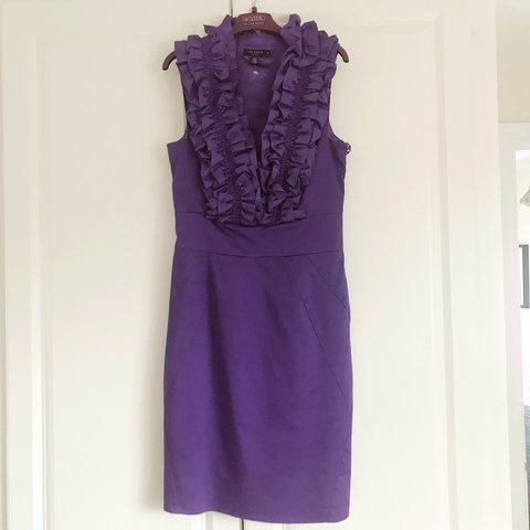 6da9f5a75 Ted Baker Size 8 Purple Cocktail Dress  tedbaker - Depop