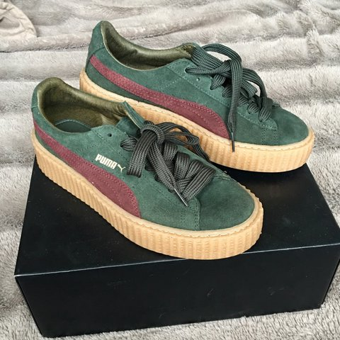 5c7a48fa15bf Rihanna Fenty Puma Limited Edition Suede Creepers - in with - Depop