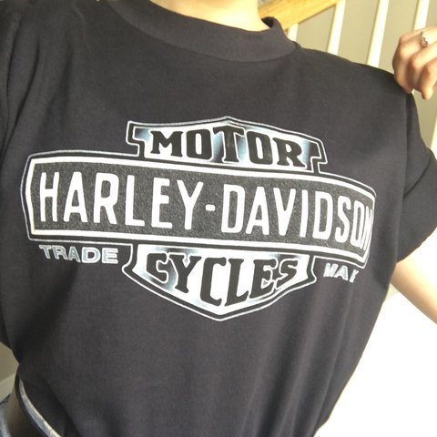 2565e1e6 @poisonivyjo. 2 years ago. Ohio, USA. Classic Harley Davidson T-shirt. Absolutely  adorable.