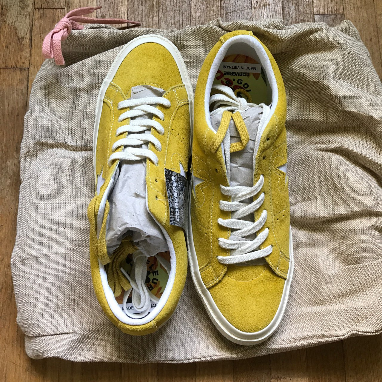 294adec2f0a Converse one star golf le fleur sulphur shoes size new depop jpg 1280x1280  Tyler the creator