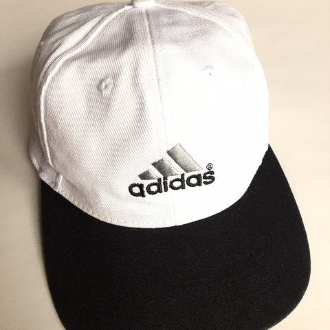 026be37000f24 ⭐️FREE SHIPPING⭐ White Adidas baseball hat with black In I - Depop