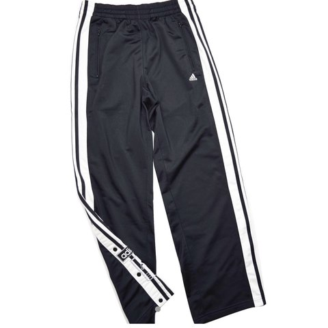 """8509b73f4e87 Vintage Adidas poppers Tracksuit trousers Condition leg 28"""" - Depop"""